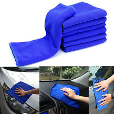 5PCS Microfiber Towel Car Bicycle Home Kitchen Washing Clean Wash Cloth Blue Kit