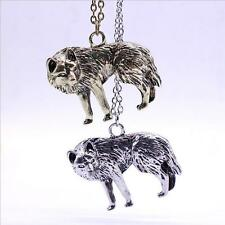 Occident Men New Pendant Jewelry Long Chain Wolf Vintage Retro Charm Necklace
