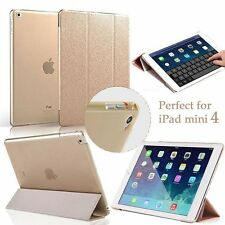 US Slim Magnetic Leather Smart Cover Case + Screen Protector For iPad pad mini 4