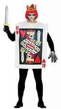 EVIL VOODOO KING OF HEARTS PLAYING CARD Halloween Fancy Dress Outfit 84461