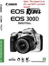 Canon EOS Digital Rebel 300D Instruction Manual, Software Guide + Driver   on CD