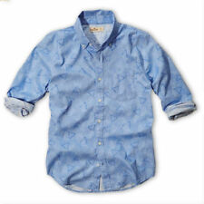 NWT Hollister by Abercrombie Mens Long Sleeve Shirts BLUE PATTERN