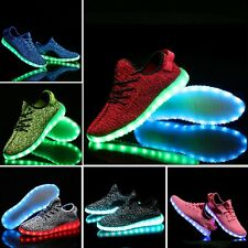 Led USB Rechargeable Lace Up Sneakers/Shoes-Red, Blue, Pink, White, Black, Green