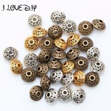 Factory Price 100pcs Antique Metal Silver Spacer Beads Gold Cone pattern 6mm for