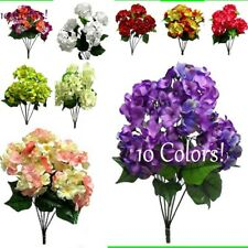21 inch MP Hydrangea Bush w 5 stems ~10 COLORS!~ Artificial Plant Silk Flowers