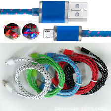 Luminous LED Light Micro USB Charger Cord Data Sync Cable For Samsung Galaxy Lot