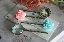 Vintage Style Lady Cameo Bobby Pins Cat Butterfly Hair Pins Rose Bobby Hair Pins