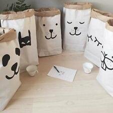 Popular Heavy Kraft Paper Storage Bags Laundry Bag Toys Clothes Organizer Hot PE