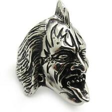 Rock Band The Demon Gene Simmons Silver Stainless Steel Men's Ring Xmas DD