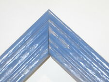 """1 3/8"""" Beach Wildflower Blue Rustic Solid Wood Picture Frames-Standard Size"""