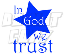 In God we trust vinyl decal - multiple styles and colors