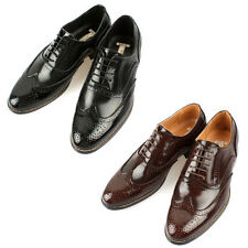 Mooda Mens Leather Wing Tip Shoes Classic Formal Oxfords Dress Shoes Oxford UK