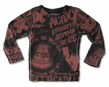 AC/DC Trunk LTD Press Clipping Images Kids Youth Black Long Sleeve Shirt NEW