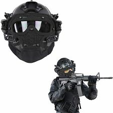 Tactical Airsoft Paintball CS Games SWAT Protective Fast Helmet Mask Googles #FV