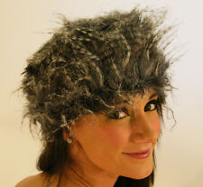 New Ladies Fashion Cloche Winter Soft Faux Fur Hat Blue & White S M L