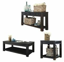 Distressed Console Table Set Coffee End Storage Rustic Furniture Wood New Accent