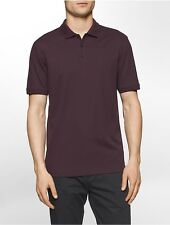 calvin klein mens classic fit liquid cotton striped polo shirt