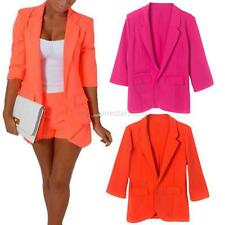 Fashion Women Autumn Slim Casual Suit Blazer Coat Jacket Outerwear Candy Colors