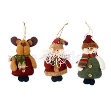 Christmas Hanging Decorations Elk/Snowman/Santa Xmas Tree Ornaments EW