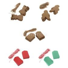 100 Christmas Theme Kraft Paper Tags Gift Label Parcel with String Wedding Favor