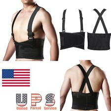 Breathable Lower Back Lumbar Brace Support Belt Work Safety Lift Weight Lifting