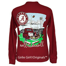 "Girlie Girl Originals ""Tailgates & Touchdowns Alabama"" Long Sleeve Unisex Fit T-"