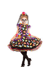 Sugar Skull Senorita Day of the Dead CHILD Girls Costume NEW Dia de los Muertos