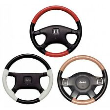 Custom Fit 1 or 2 Color Leather Steering Wheel Cover Wheelskins 15 1/4 X 4 3/8