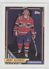 1992-93 Topps #386 Brent Gilchrist Montreal Canadiens Hockey Card 0c4