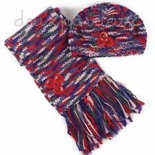 NWT Deux par Deux Growing Up Scarf and Hat Set girls sizes 8/10 12/14y Style GEF