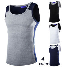 New Fashion Mens T-Shirt Cotton Sleeveless Muscle Tee Shirts Vest Tank Tops U