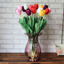 1/2/4x Artificial Tulip Silk Flowers Floral Party Wedding Bouquet Home Decor Lot