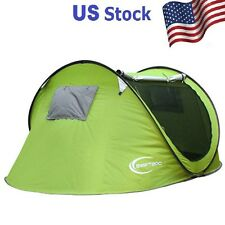 New Camping Tent 3-4 Person Single Layer Automatic Outdoor Beach Hiking Supplies
