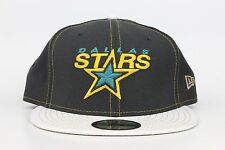 Dallas Stars Black / White Lid / Yellow Green NHL New Era 59Fifty Fitted Hat Cap