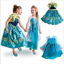 Frozen Fever Dress Birthday Party Anna Party Skirt Princess Cosplay Sunflower