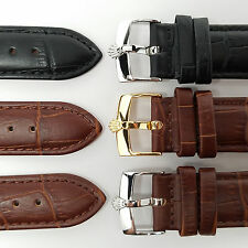 NEW Leather Watch Bands for ROLEX 18mm 20mm Black Brown HIGH QUALITY Straps