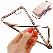 Luxury Clear Thin Rubber TPU Plating Back Cover Case For Apple iPhone 7/7 Plus