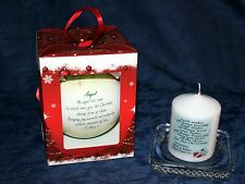 Christmas Tree poem Angel bauble  Free personalised Cellini candle card