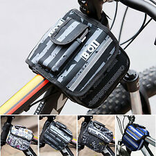 New Roswheel Bicycle Bike Frame Pannier Front Tube Double Sides Bag Pouch