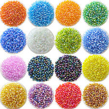 CH 1200pcs Lots 2mm Glass Beads Seed Pearls Round Spacer For Jewelry Making DIY