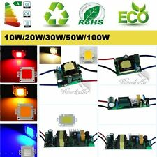 10W/20W/30W/50W/100W High Power AC LED Driver Supply+ LED Chip Light Lamp Bulb