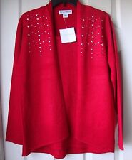 BRAND NEW SAG HARBOR EMBELLISHED METALLIC SCOOPNECK SWEATERS RED-SILVER-GOLD