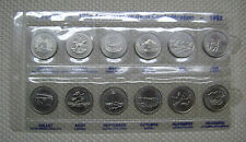 1867-1992 125TH ANNIVERSARY OF CONFEDERATION UNC 25 CENT SET 12 DIFFERENT COINS