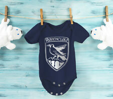 Harry Potter inspired Ravenclaw green 100% Cotton baby grow body suit.