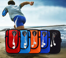 """Waterproof Nylon Running Hiking MP3 Cell Phone Bag Sport Arm Band Case 5""""5.5"""""""