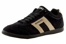 Diesel Men's Vintagy Lounge Anthracite/Sandshell Suede Leather Sneakers Shoes