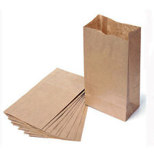 10/20x Small Kraft Paper Gift Bags Vintage Wedding Treat Brown Paper Bags ST