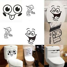 Toilet Wall Sticker Removable Funny Paper Bathroom Decals Vinyl Wall Art  Decor