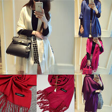 Fashion Womens Winter Warm Cashmere Silk Long Pashmina Shawl Wrap Scarf New Gift