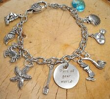 PART OF YOUR WORLD THE LITTLE MERMAID CHARMS SILVER BRACELET PRINCESS ARIEL
